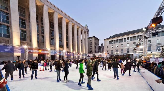 Pattinaggio piazza della Libertà