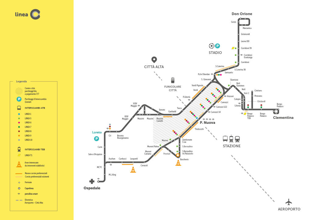 Mappa Linea C