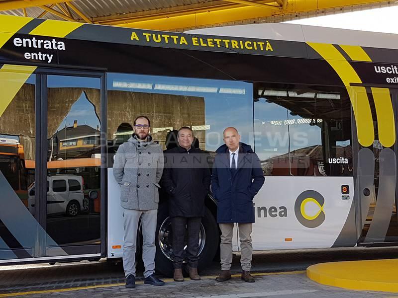 I primi autobus della Linea C