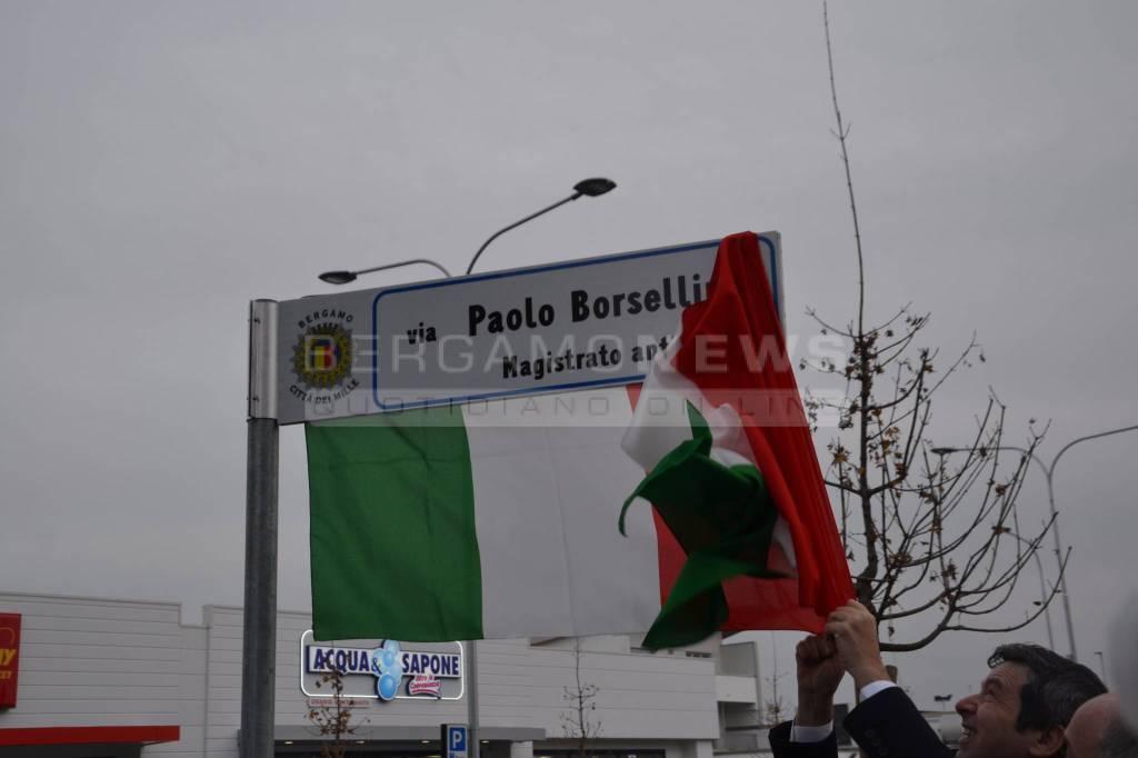Inaugurata via Paolo Borsellino