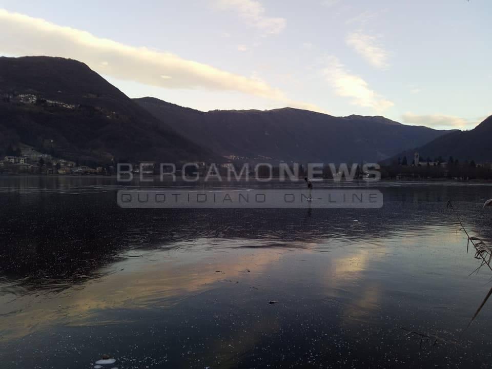 lago d'endine ghiacciato 2017