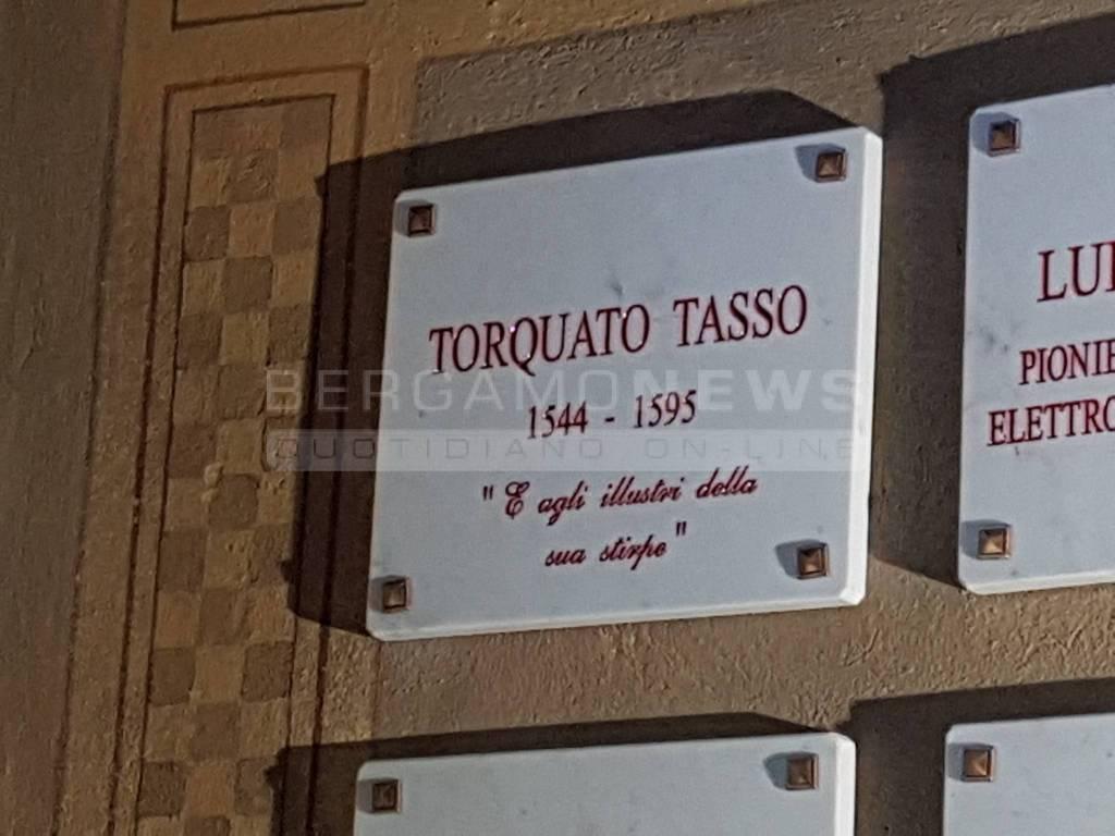 Lapide Torquato Tasso al cimitero di Bergamo