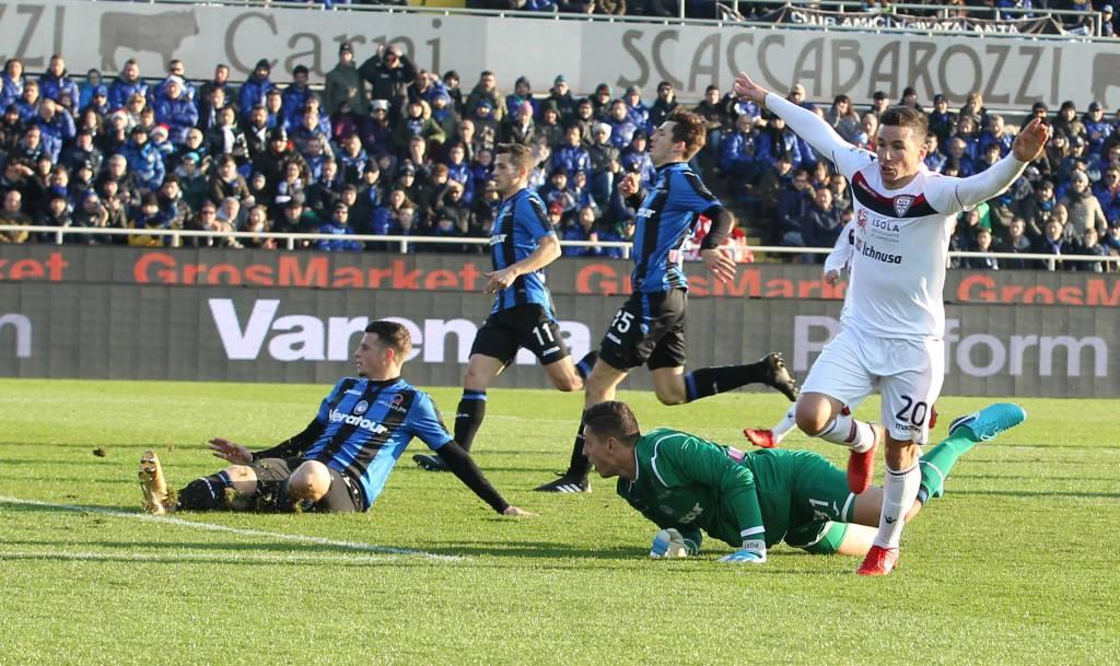 Colpaccio del Cagliari sul campo dell'Atalanta: 2-1