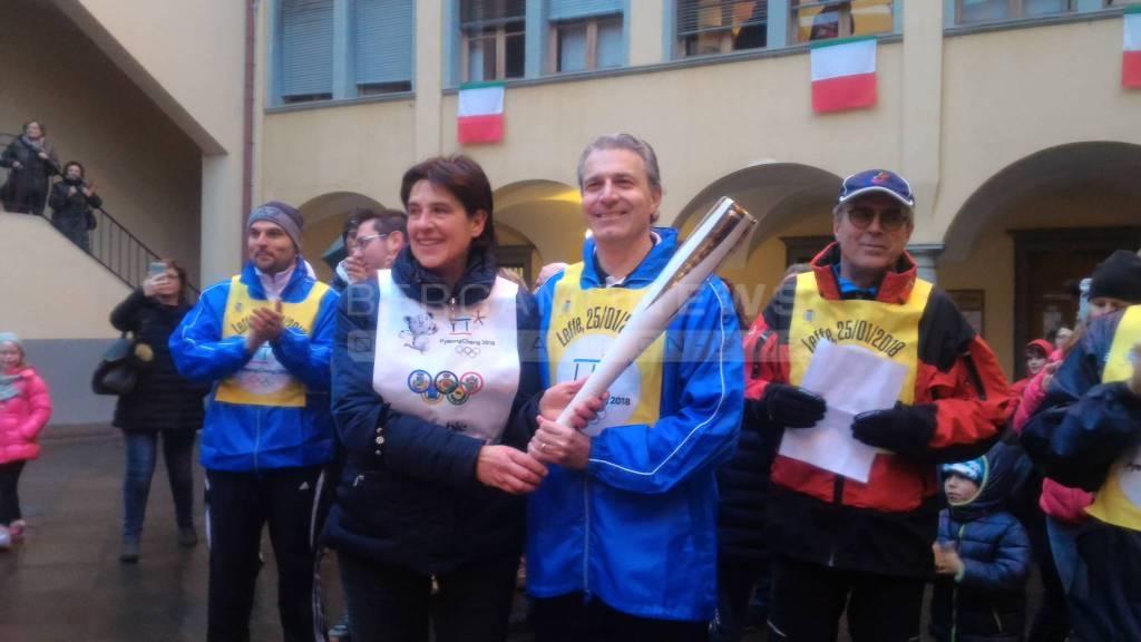 La fiaccola olimpica in Val Gandino