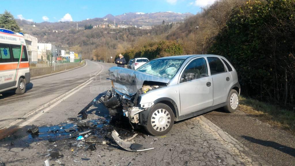 Incidente stradale a Vertova