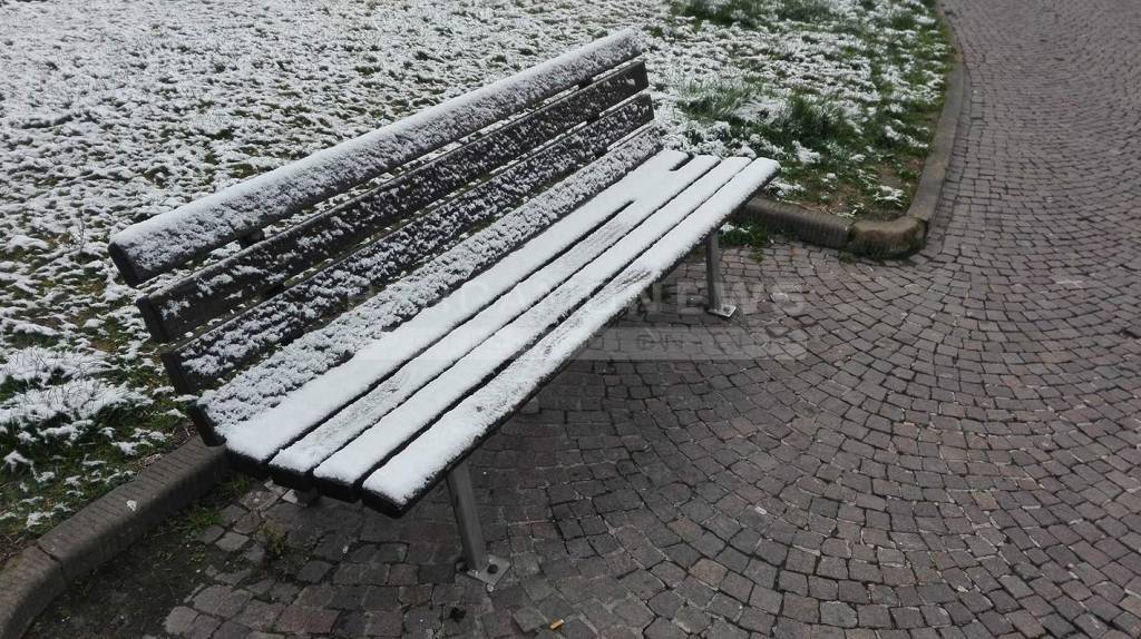 La neve su Bergamo