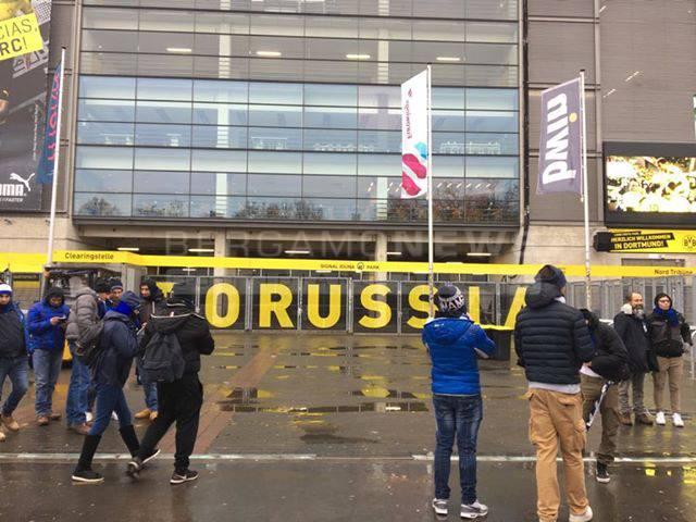 Tifosi dell'Atalanta invadono Dortmund