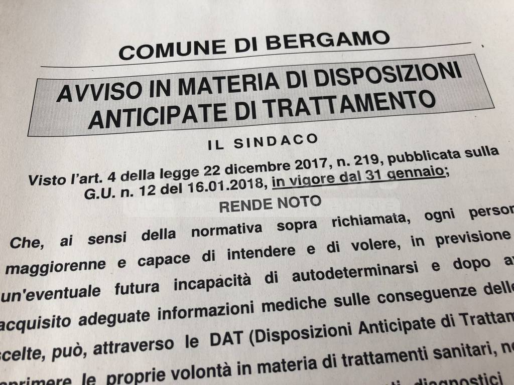 Biotestamento Bergamo