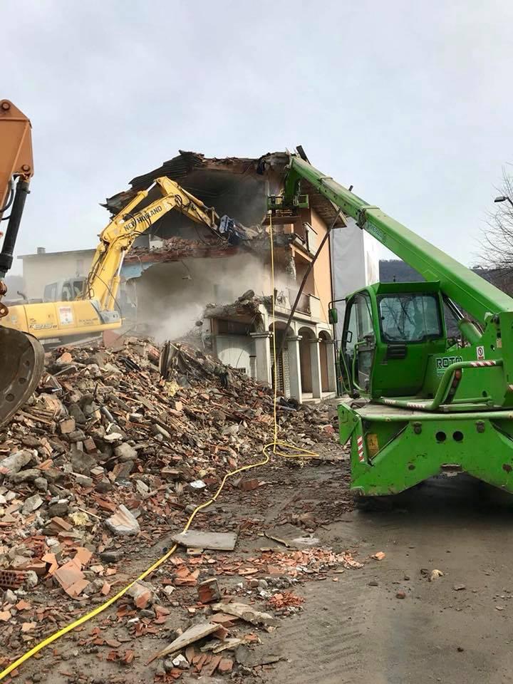 I lavori di demolizione