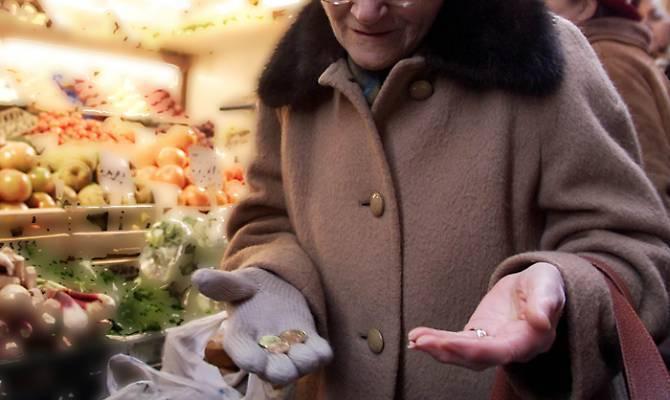 pensionata povera donna