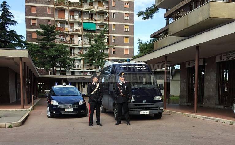 Controlli dei carabinieri nell'area di Zingonia