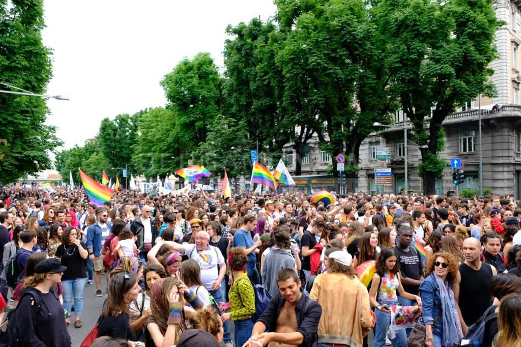 Il corteo del Bergamo Pride 2