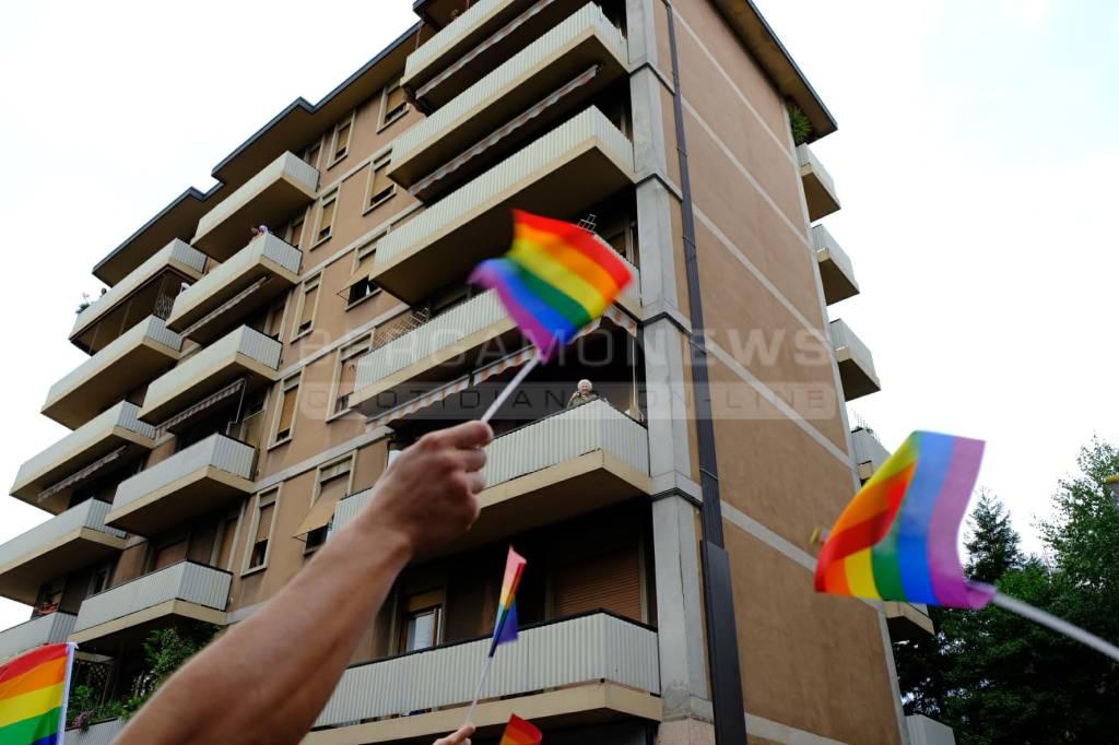 Il corteo del Bergamo Pride
