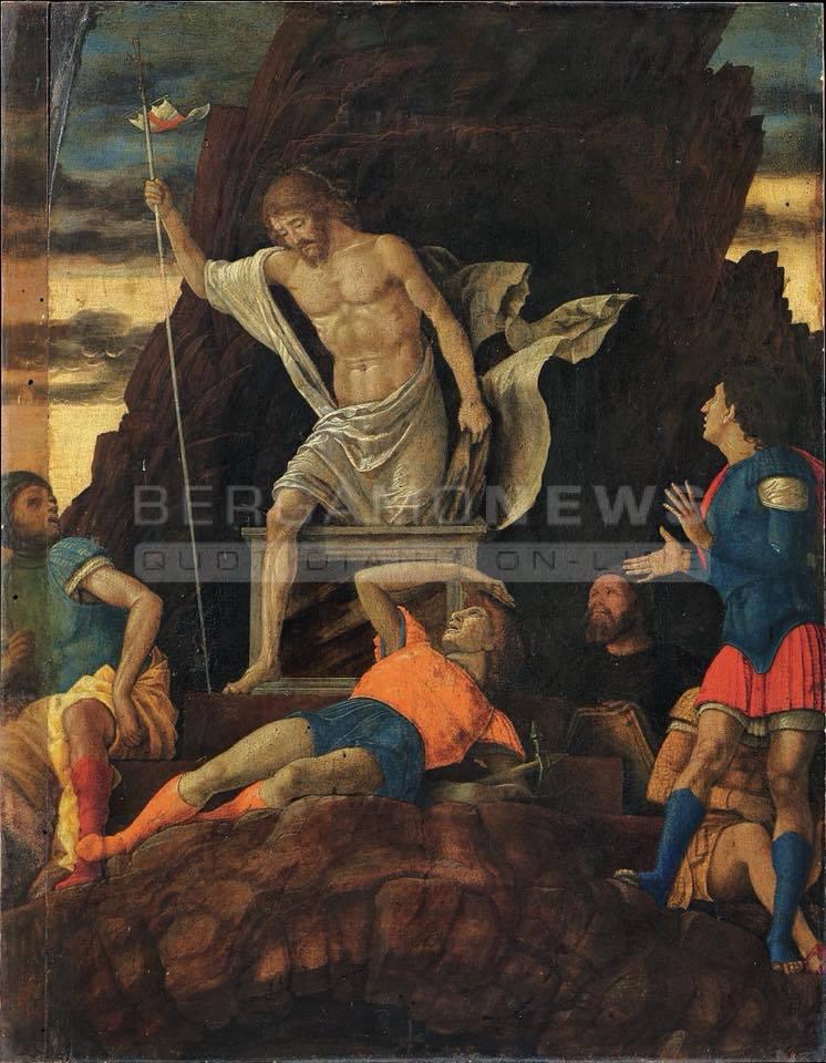 """La """"Resurrezione di Cristo"""" dell'Accademia Carrara è di Andrea Mantegna"""