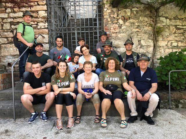 Trento, 91ª adunata degli alpini: il gruppo di Borgounito