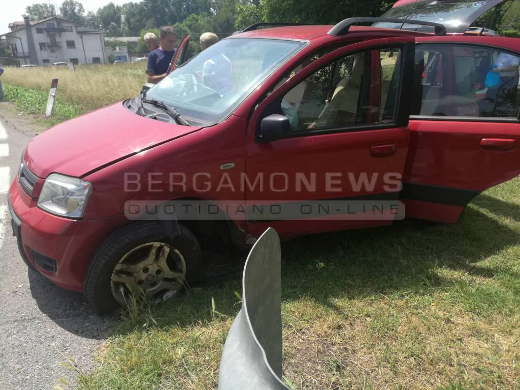 L'incidente in via Brembate