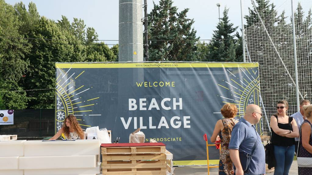 A Scanzo inaugurato il primo centro di beach volley della provincia