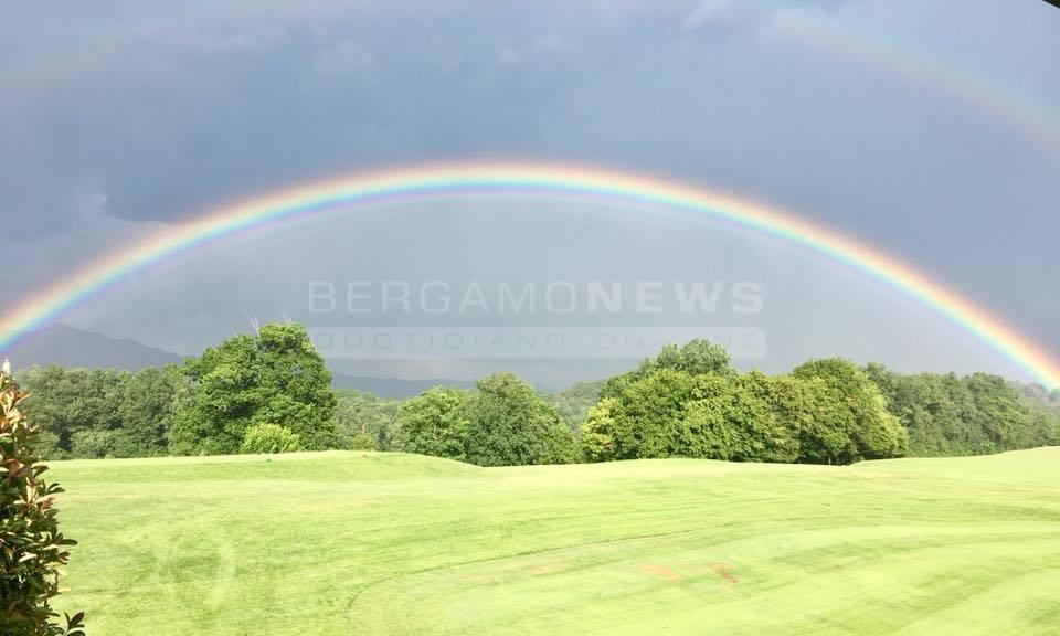 Doppio arcobaleno a Bergamo