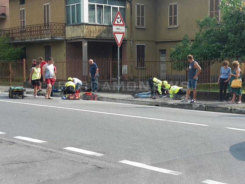 L'incidente in via Nazionale