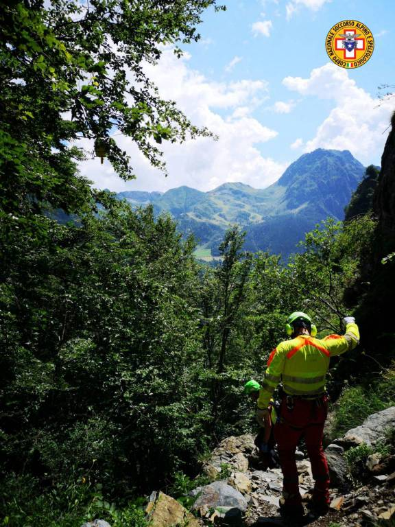 L'intervento del Soccorso Alpino