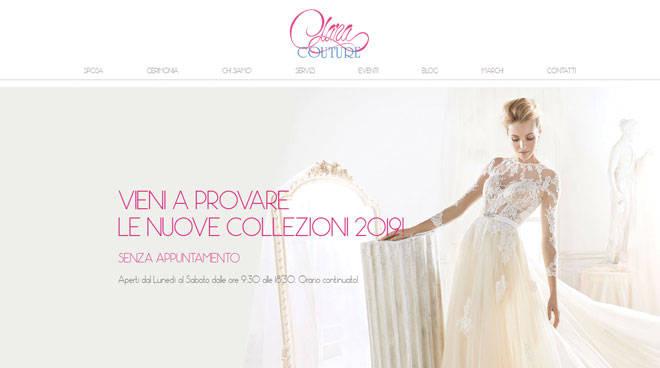 Clara Couture  tutto il necessario per la sposa e la cerimonia ... 50ce2403b13