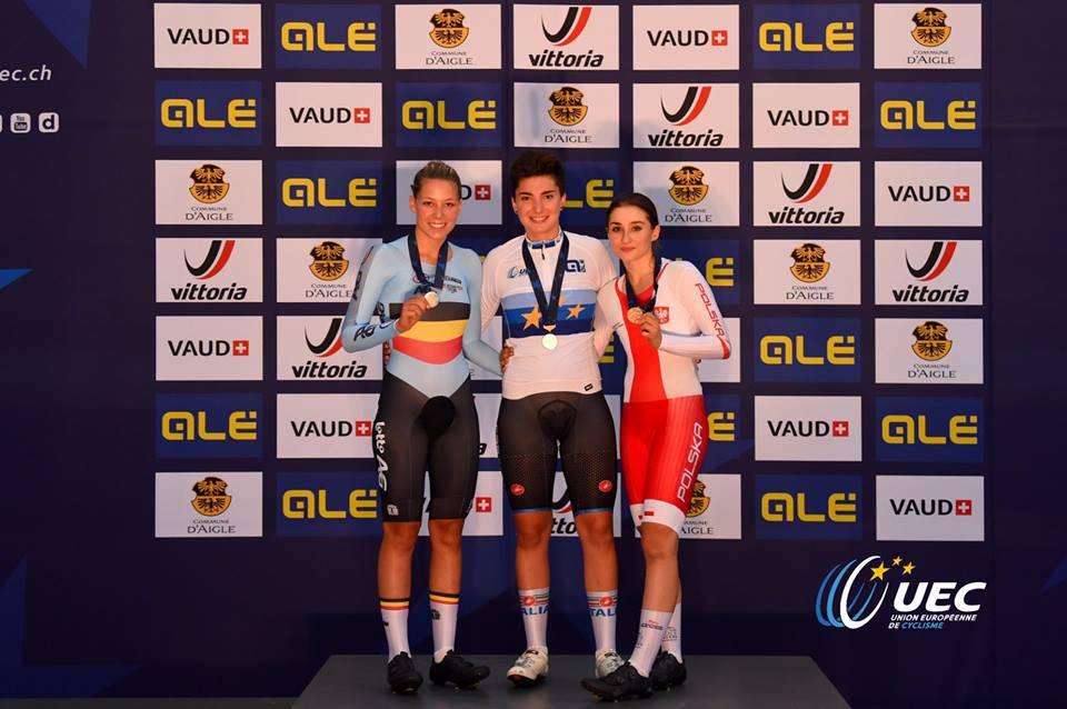 Gloria Scarsi - Campionati Europei Giovanili ciclismo su pista 2018