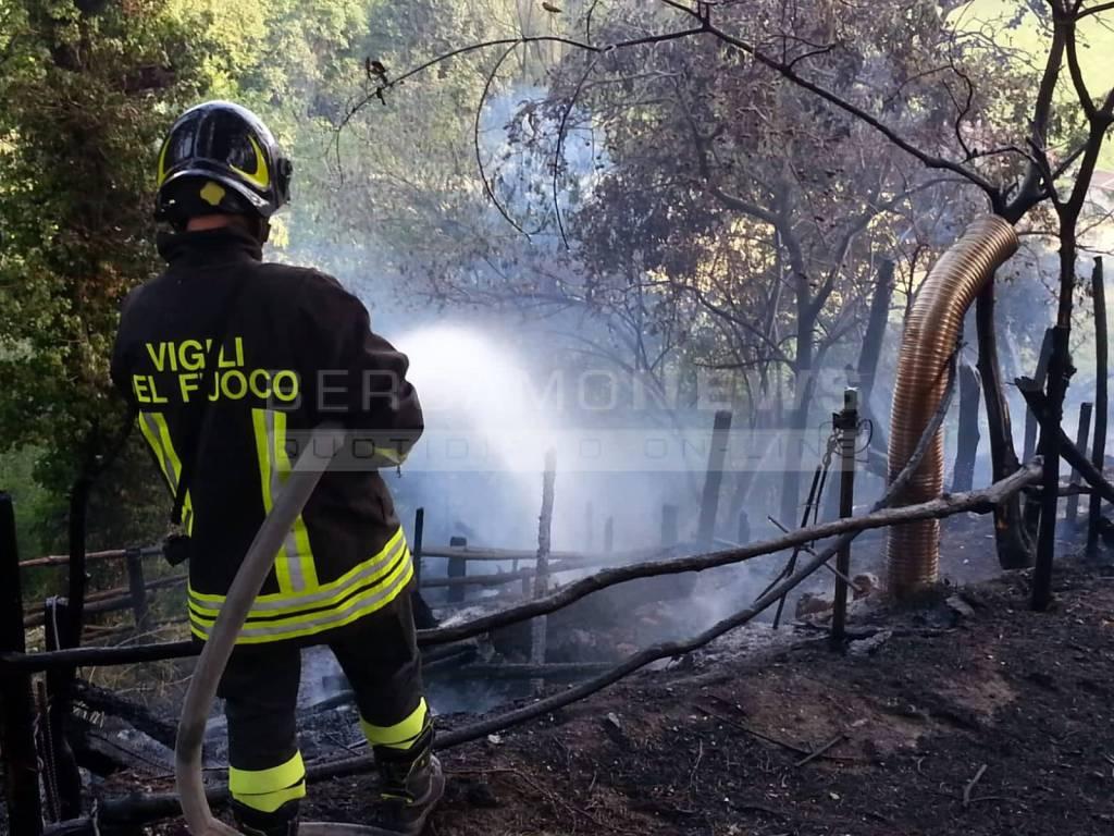 Incendio a Villongo
