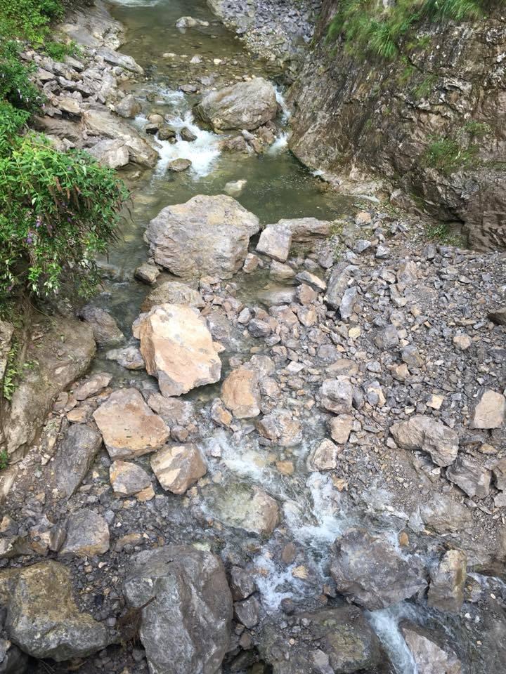La frana in Val Serina e i lavori