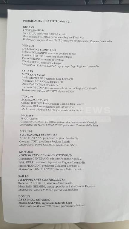 Programma dibattiti Bèrghem Fest 2018