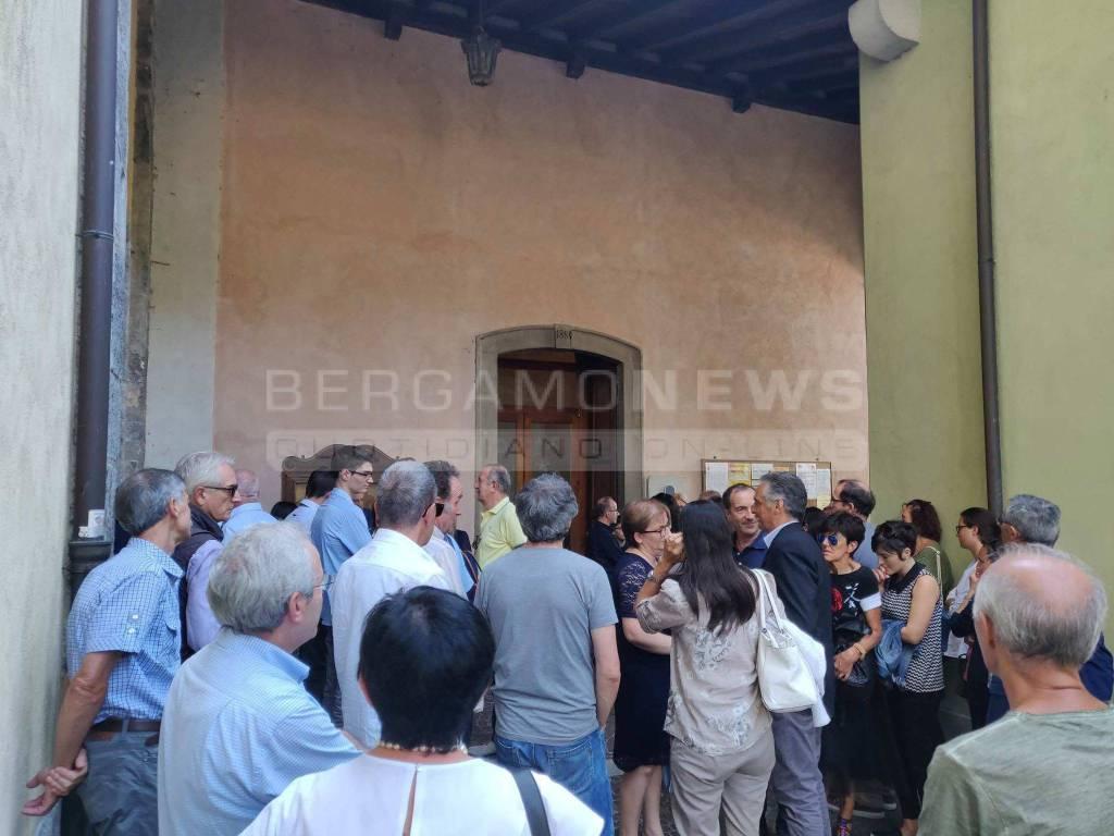 I funerali di Massimo Scanzi