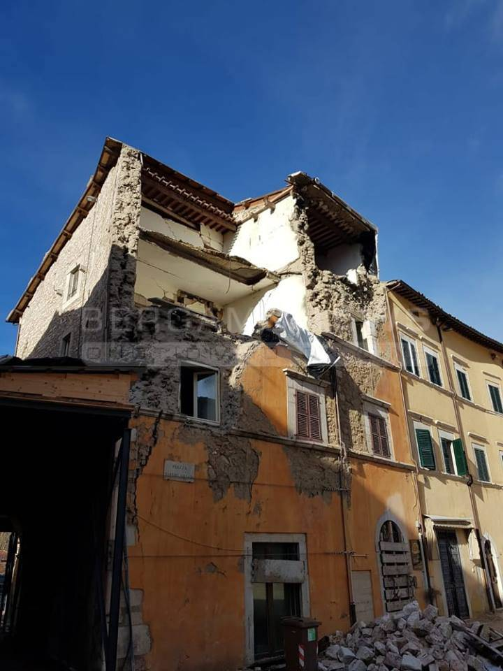 Il Comune di Visso, colpito dal Terremoto