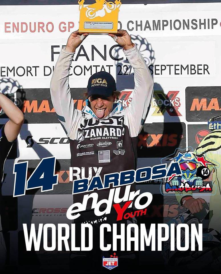 Ruy Barbosa, campione mondiale 2018 Enduro classe Youth 125 (under 21) su Husqvarna 125