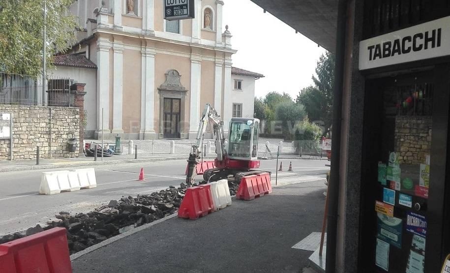 i lavori in corso a San Colombano