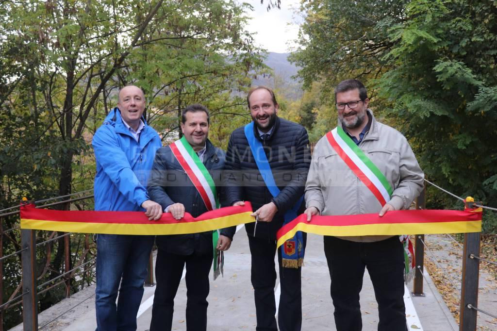 Ciclovia della Valle Brembana, inaugurato il tratto fra Almè e Villa d'Almè