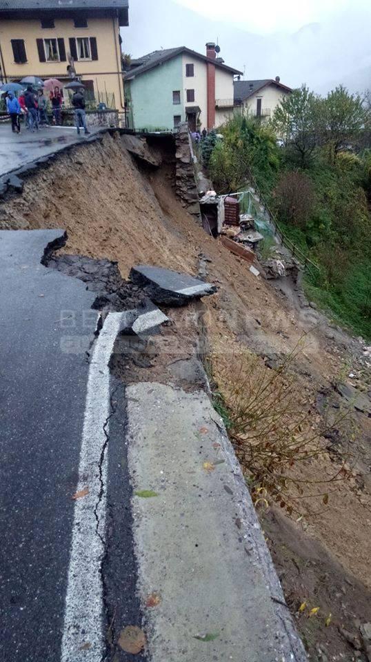 I danni del maltempo in Bergamasca
