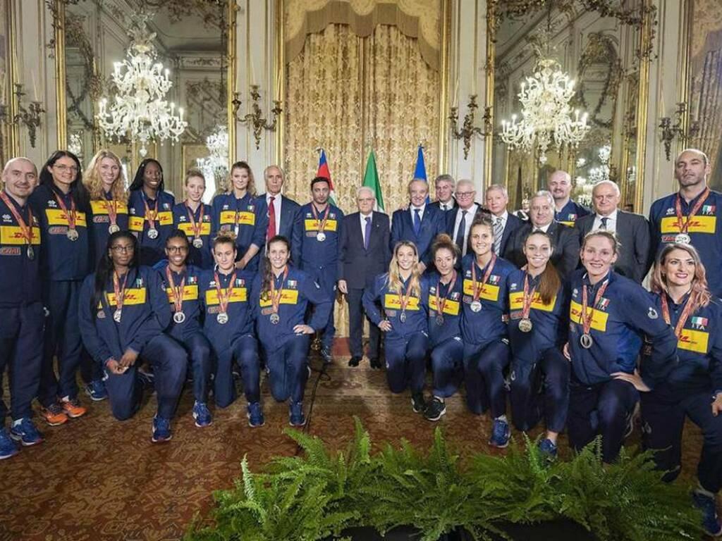 La nazionale femminile di pallavolo incontra il presidente Mattarella