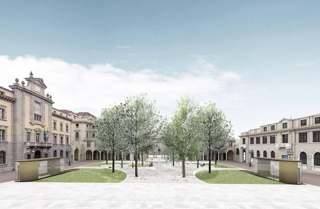 La nuova piazza Dante a Bergamo