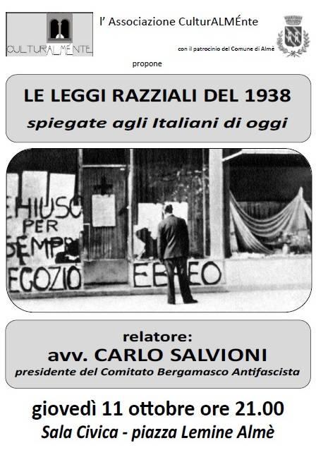 Le leggi razziali del 1938 spiegate agli italiani di oggi