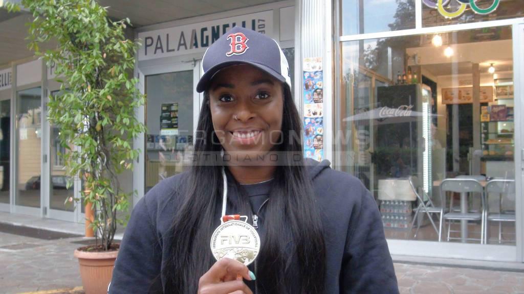 Miriam Sylla torna a Bergamo con la medaglia d'argento