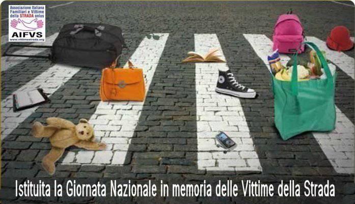 giornata nazionale in memoria delle vittime della strada