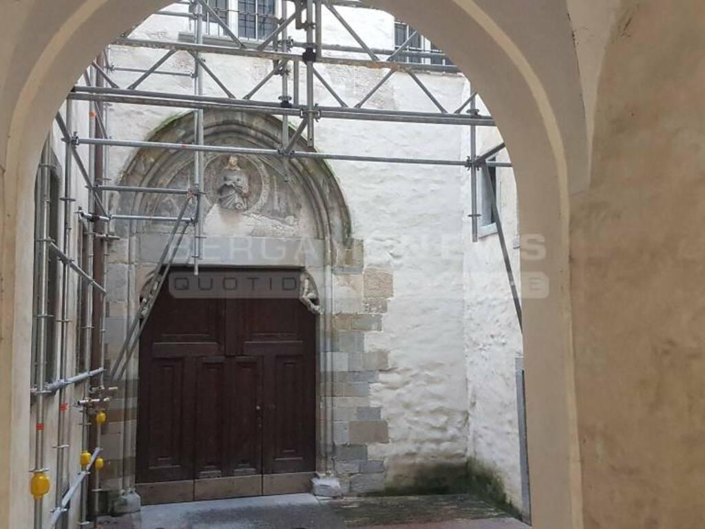 Lavori ex Chiesa della Maddalena - Bergamo