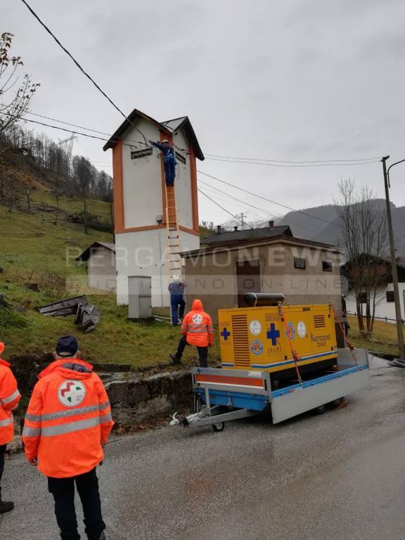 Volontari bergamaschi a Belluno