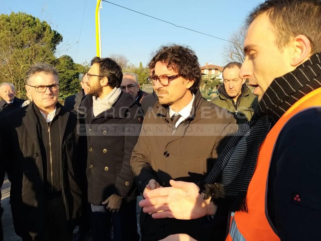 Il ministro Toninelli a Calusco d'Adda