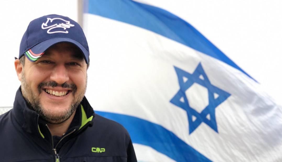Risultati immagini per Salvini, il salvatore di israele,