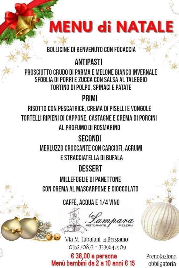 Menu Di Natale Bergamo.Dall Entree Al Dessert Gustoso Menu Di Natale A La Lampara Bergamonews