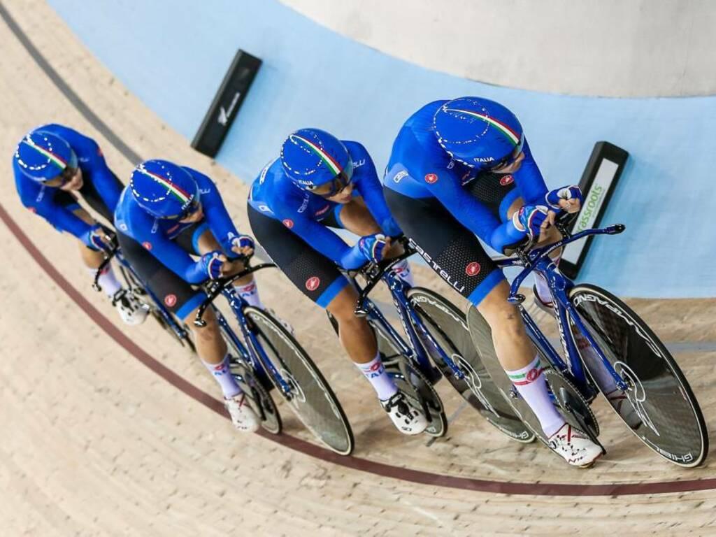 Elisa Balsamo e Marta Cavalli Coppa del Mondo ciclismo su pista