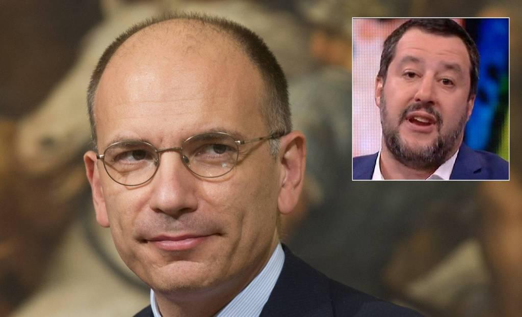 Enrico Letta - Matteo Salvini
