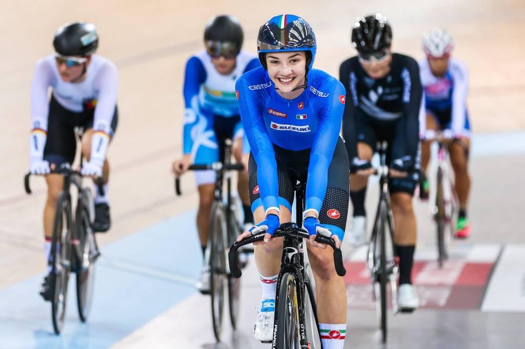 Martina Fidanza Coppa del Mondo ciclismo su pista