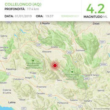Scossa terremoto Abruzzo