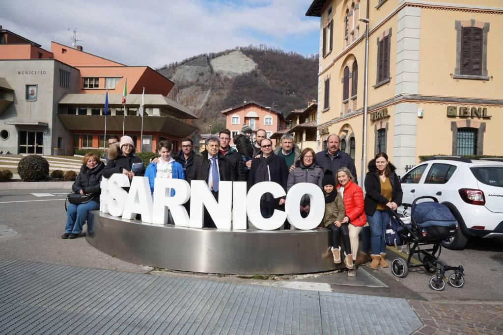 Cittadini di Amatrice in visita a Sarnico